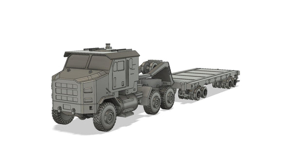 1-72ND SCALE 3D PRINTED OSHKOSH M1070 U.S.ARMY TANK TRANSPORTER UNIT