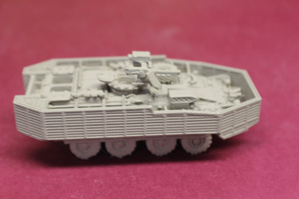 1-72ND SCALE 3D PRINTED U.S.ARMY M1127 STRYKER RECONNAISSANCE VEHICLE WITH M2 50 CAL MG WITH BAR ARMOR
