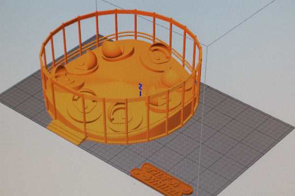 1-87TH HO SCALE 3D PRINTED TILT-A-WHIRL AMUSEMENT RIDE