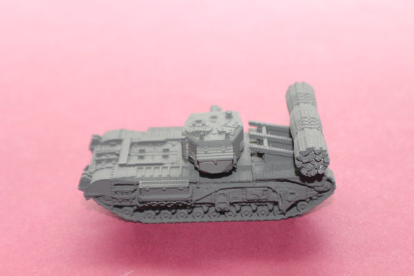 1-87TH SCALE 3D PRINTED WWII BRITISH CHURCHILL AVRE TANK WITH FASCINE