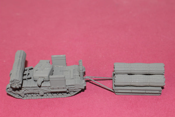 1-72ND SCALE 3D PRINTED WWII BRITISH CHURCHILL AVRE TANK WITH FASCINE SLED