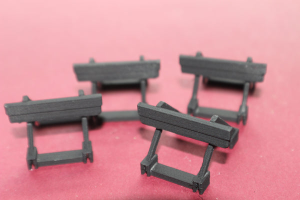 1/87TH  3D PRINTED HO SCALE 3D PRINTED TRACK BUMPERS 4 PIECES