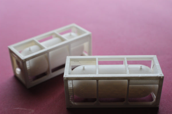 1-160TH NSCALE 3D PRINTED TANK SHIPPING CONTAINER 2 PIECES