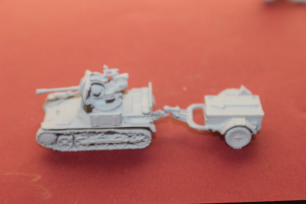 1-87TH SCALE 3D PRINTED WW II GERMAN FLAKPANZER I PACKED WITH TRAILER