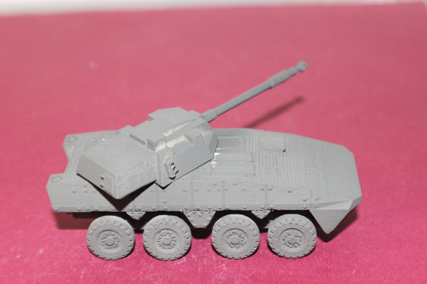1-87TH SCALE 3D PRINTED POLISH  KTO ROSOMAK 8 WHEELED ARMORED PERSONNEL CARRIER WITH 120 MM CANON.
