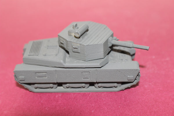 1-87TH SCALE  3D PRINTED WW II FRENCH CHAR G1L LIGHT TANK
