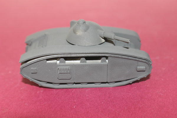 1-72ND SCALE  3D PRINTED WW II FRENCH CHAR G1R TANK