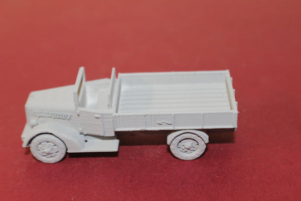 1-87TH SCALE 3D PRINTED WW II JAPANESE TYPE 97 ISUZU FLAT BED TRUCK-OPEN CAB