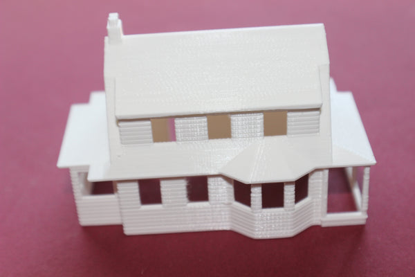1-87TH HO SCALE 3D PRINTED BUNGALOW HOUSE