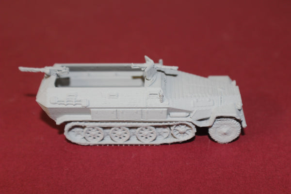 1-72ND SCALE 3D PRINTED WW II GERMAN SDKFZ 251 AUSF-A HALFTRACK ARMORED FIGHTING VEHICLE