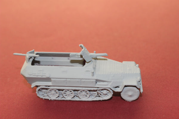 1-87TH SCALE 3D PRINTED WW II GERMAN SDKFZ 251-10 AUSF-A WITH 3.7 PAK GUN HALFTRACK