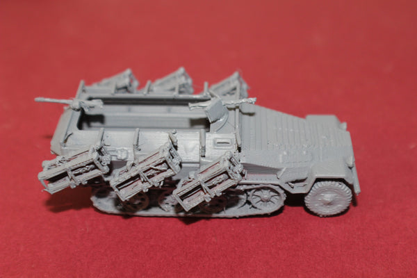 1-87TH SCALE 3D PRINTED WW II GERMAN SDKFZ 251/1 II  ROCKET LAUNCHER HALFTRACKSTUKA ZU FU ß