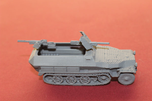 1-87TH SCALE 3D PRINTED WW II GERMAN SDKFZ 251-10 AUSF-C HALFTRACK ARMORED FIGHTING VEHICLE