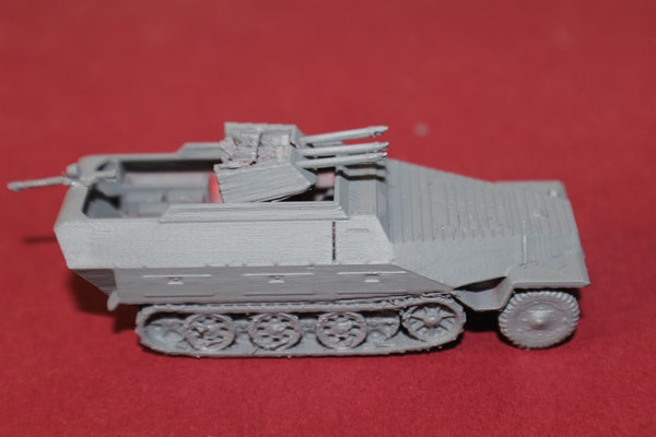 1-87TH SCALE 3D PRINTED WW II GERMAN SDKFZ 251-21 AUSF D WITH 20MM ANTI AIRCRAFT GUN HALFTRACK