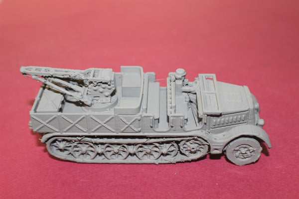 1-87TH SCALE 3D PRINTED WW II GERMAN SD.KFZ 9 FAMO RECOVERY VEHICLE OPEN CAB