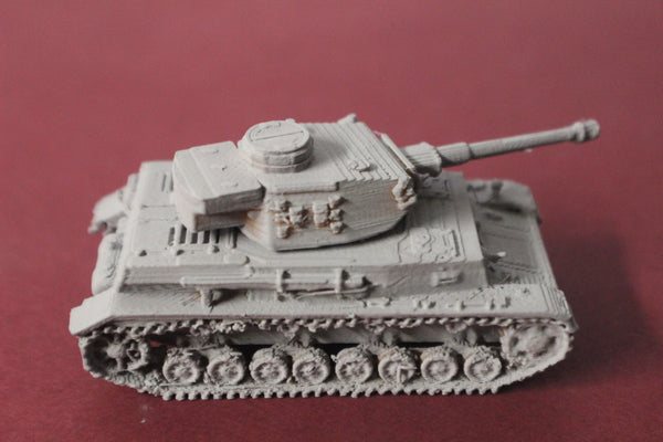1-87TH SCALE 3D PRINTED WW II GERMAN PANZER IV AUSF G
