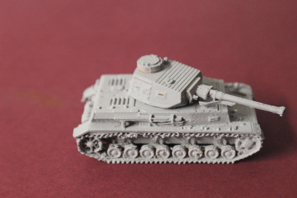 1-72ND SCALE 3D PRINTED WW II GERMAN PANZER IV AUSF F2 COMM TURRET