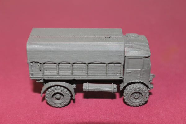 1-87TH HO SCALE 3D PRINTED WW II BRITISH AEC MATADOR 4 LORRY COVERED KIT