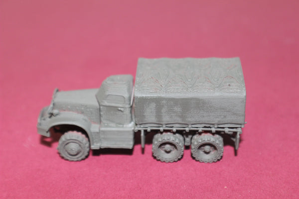 1-87TH HO SCALE 3D PRINTED WW II U.S.ARMY DIAMOND T  4 TON 6X6 COVERED TRUCK KIT