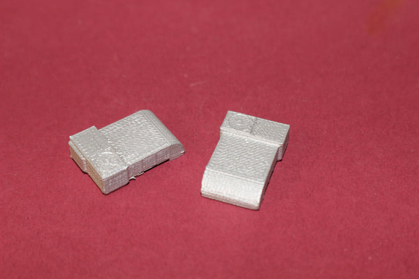 1-160TH N SCALE 3D PRINTEFD BUILDING ROOF TOP AIR CONDITIONING UNITS 2 PIECES