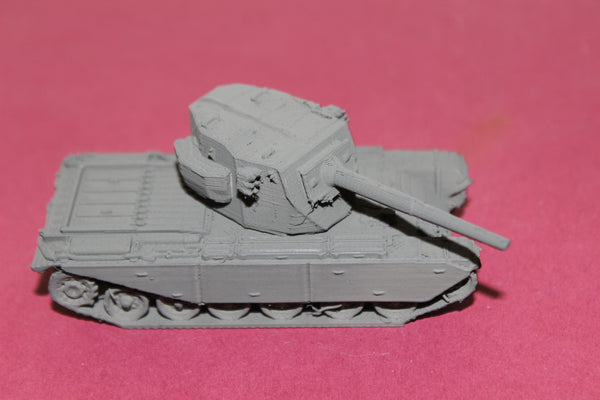 1-87TH SCALE 3D PRINTED BRITISH FV 4004 CONWAY SELF PROPELLED GUN