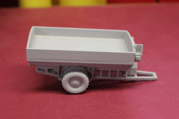 1-87TH HO SCALE 3D PRINTED KINZE GRAIN CART WITH DUAL AUGERS