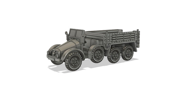 1-87TH SCALE  3D PRINTED WWII GERMAN KRUPP-PROTZE SDKRZ 70 SIX-WHEELED 6X4 TRUCK AND ARTILLERY TRACTOR OPEN