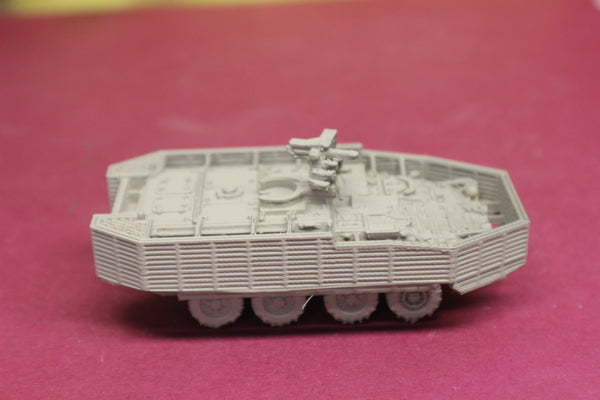 1-87TH SCALE 3D PRINTED U.S.ARMY M1126 STRYKER ICV WITH M2 50 CAL MG WITH BAR ARMOR