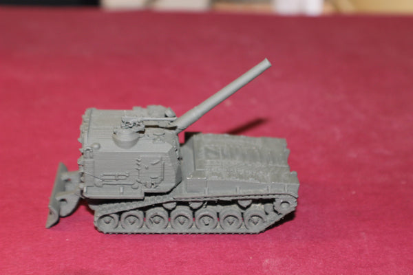 1-72ND SCALE 3D PRINTED U.S. ARMY M 55 SELF PROPELLED HOWITZER IN FIRING POSITION