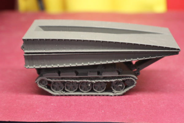 1-87TH SCALE 3D PRINTED RUSSIAN COLD WAR MT-55A ARMOURED VEHICLE-LAUNCHED BRIDGE (AVLB) TANK