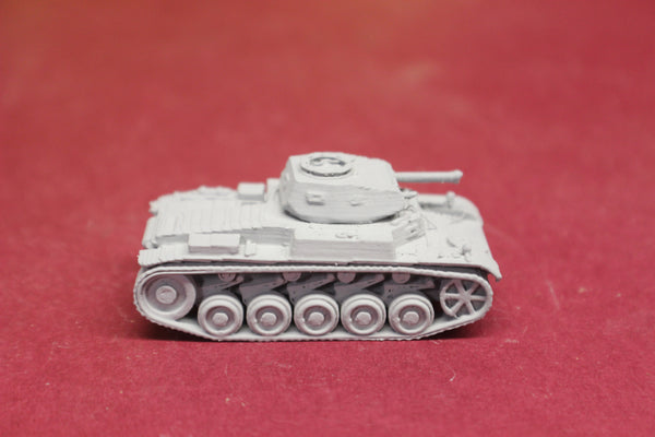 1-72ND SCALE 3D PRINTED WW II GERMAN PANZER II AUSF. C (PZ.KPFW. IIC) SQUARE HATCH