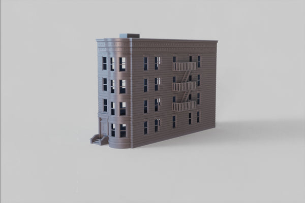 1-87TH HO SCALE 3D PRINTED BROWNSTONE BUILDING  BROOKLYN, NY