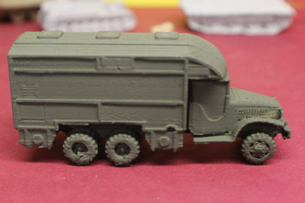 1-87TH SCALE 3D PRINTED WW II RED CROSS MOBILE CANTEEN