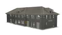 N SCALE 1/160 3D PRINTED ROCK ISLAND STATION FAIRBURY, NEBRASKA