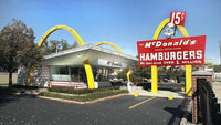 HO SCALE 3D PRINTED KIT FIRST MC DONALD'S DES PLAINES, IL 1955