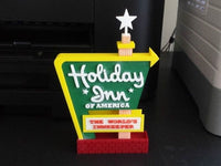 1-87TH HO SCALE 3D PRINTED HOLIDAY INN MOTEL SIGN