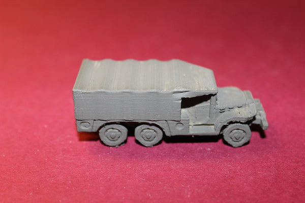 1/87TH SCALE  3D PRINTED WW II U. S. ARMY DODGE WC-62 1.5 TON 6X6 CLOSED