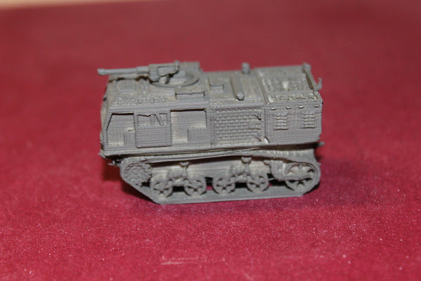 1/72ND SCALE 3D PRINTED WW II U. S. ARMY M4 HIGH SPEED ARTILLERY TRACTOR