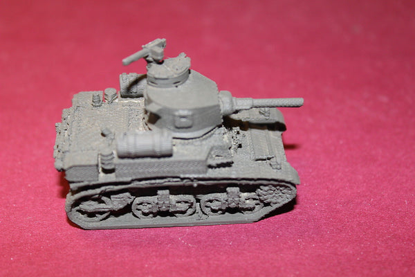 WW II U S ARMY M3A1 STUART LATE WITH FUEL TANKS