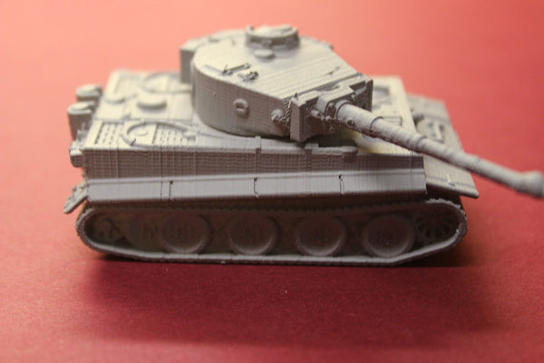 1-87 SCALE 3D PRINTED WW II GERMAN TIGER TANK-MID PRODUCTION