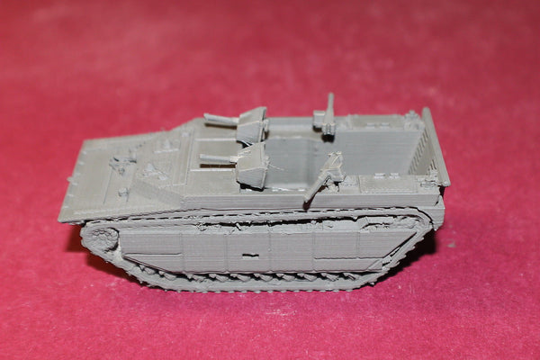 1/87TH SCALE  3D PRINTED WW II USMC LVT 4 WATER BUFFALO ARMED