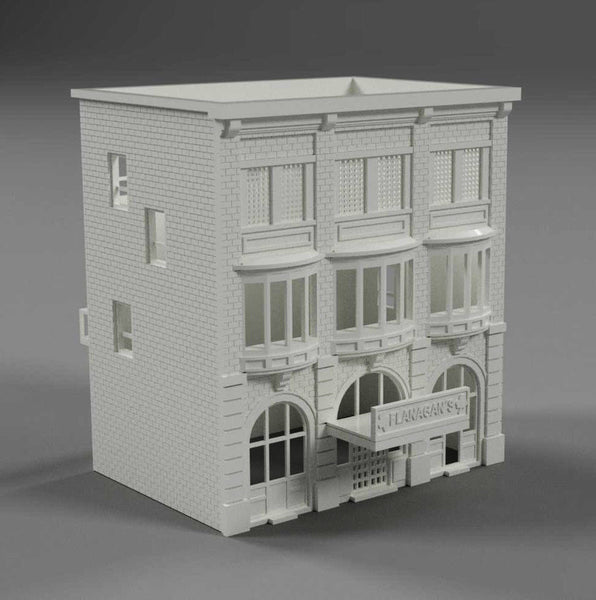 1/160TH  N SCALE 3D PRINTED BUILDING KIT FLANAGAN'S SPORTS CAFE