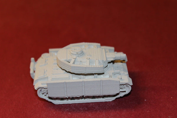 1/72 ND  SCALE  3D PRINTED WW II GERMAN PANZER III AUSF N 7.5 CM KWK 37 L24 GUN.