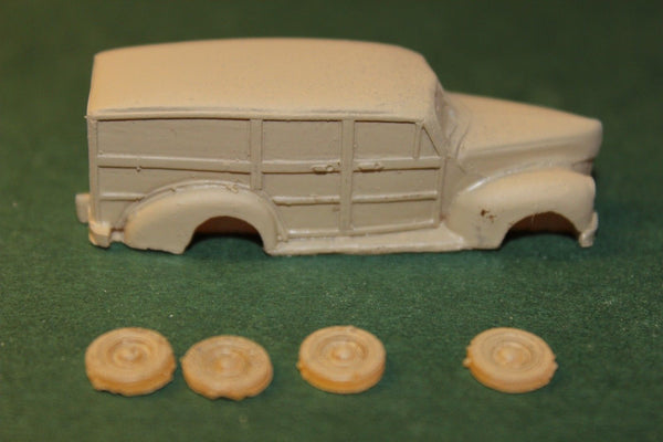 HO SCALE 1940 FORD WAGON RESIN KIT