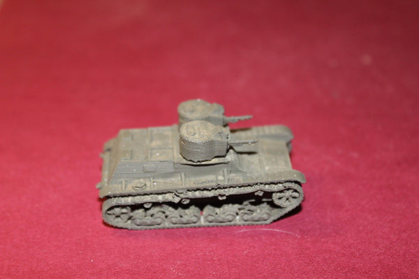 WW II POLISH 7 TP BROWNING MG TWIN TURRETED LIGHT TANK