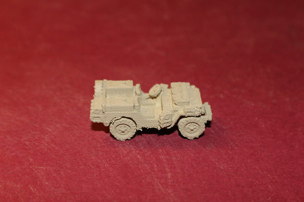 1/87TH SCALE  3D PRINTED WW II BRITISH SAS JEEP WITH FUEL CANS