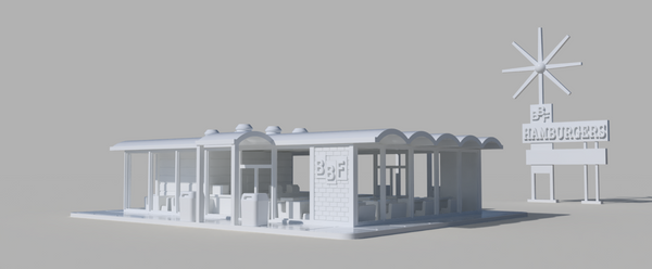 1/160TH  N SCALE BUILDING 3D PRINTED BFF BURGERS