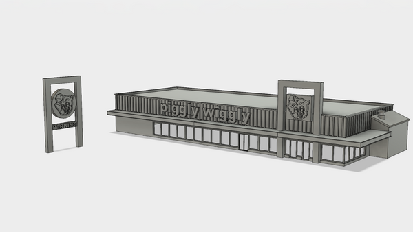 1-160TH N SCALE KIT PIGGLY WIGGLY GROCERY STORE
