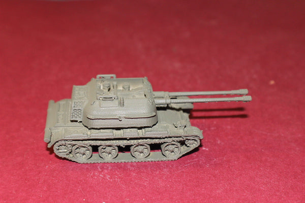 1/87TH SCALE 3D PRINTED POST WAR II SOVIET ZSU 57MM ANTI-AIRCRAFT GUN