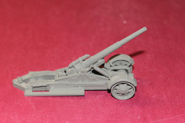 1/72ND SCALE  3D PRINTED WW II GERMAN SFH 18 MORSER HEAVY FIELD HOWITZER DEPLOYED KIT